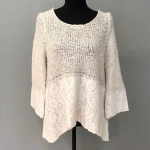 Anthropologie • Knitted & Knotted Wool Sweater